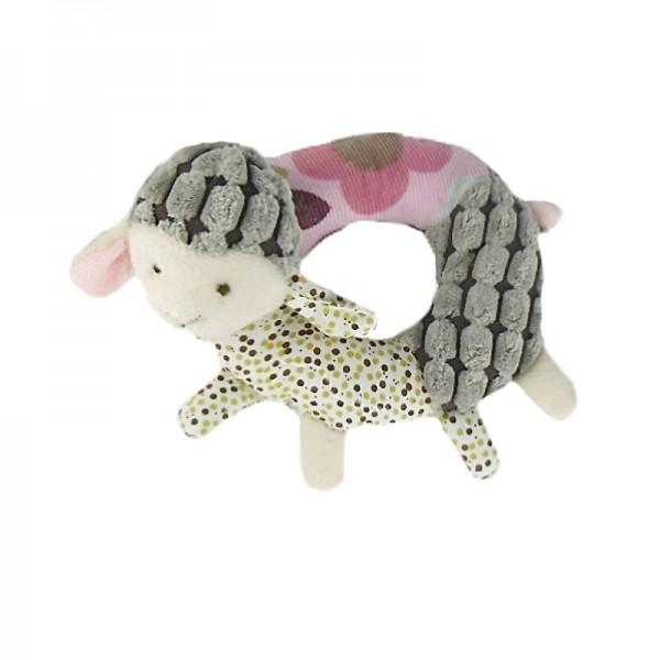 Hundespielzeug Plüschrassel Schaf Rosa